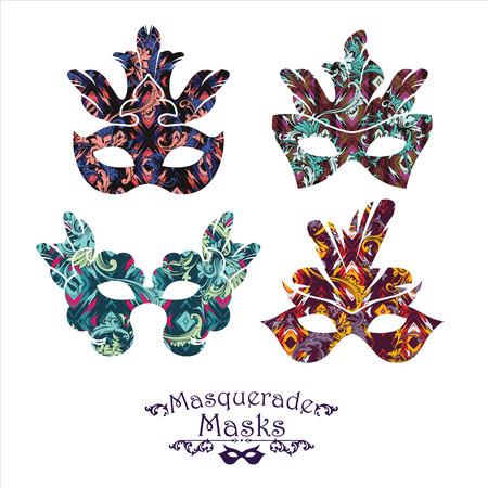 gothic design: Illustration of carnival mask. Design element Illustration