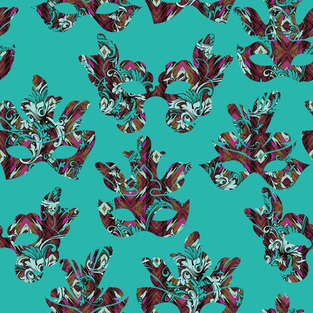 Seamless pattern with carnival mask.Vector illustration Vector