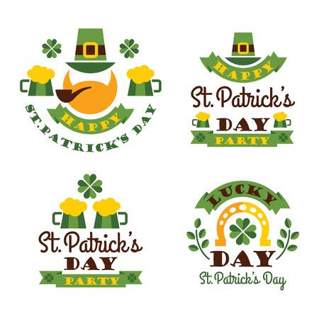 Typographic Saint Patricks Day Design. Vector illustration Illustration