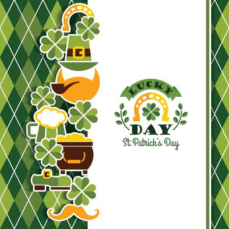 Saint Patricks Day baskground. Vector illustration