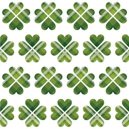bliss: Saint Patricks Day tartan seamless pattern. Vector illustration Illustration