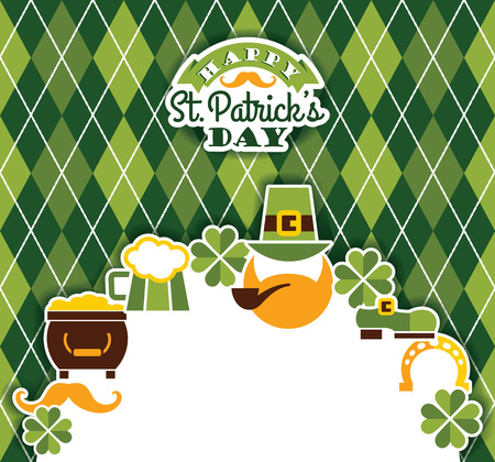 Saint Patricks Day baskground. Vector illustration