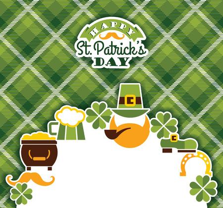 leafed: Saint Patricks Day baskground. Vector illustration