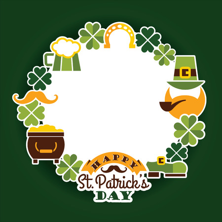 leafed: Saint Patricks Day baskground. Vector illustration