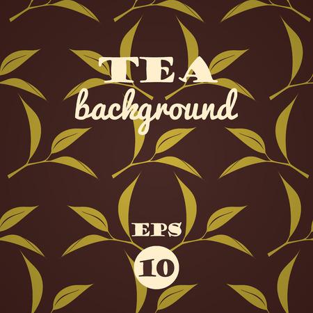 Tea tree: Tea background. Vector seamless pattern.