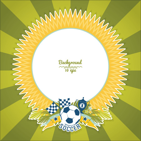 brazilian: Vector frame with traditional Brazilian football theme. Design element.