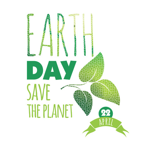 environment geography: Vector illustration of Earth Day. Design element.