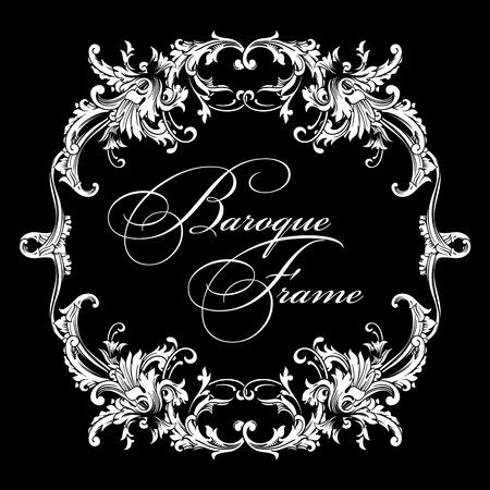 Vector ornamental frame. Baroque pattern. Design element. Illustration