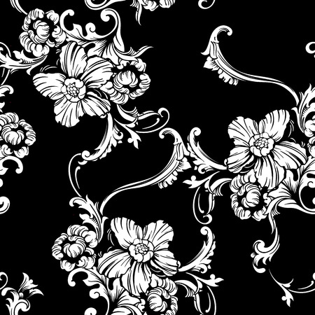 Seamless vector background. Baroque pattern. Design element.