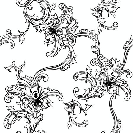 damask pattern: Seamless vector background. Baroque pattern. Design element.