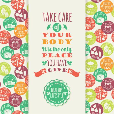 lifestyle: illustration of Healthy lifestyle Elements