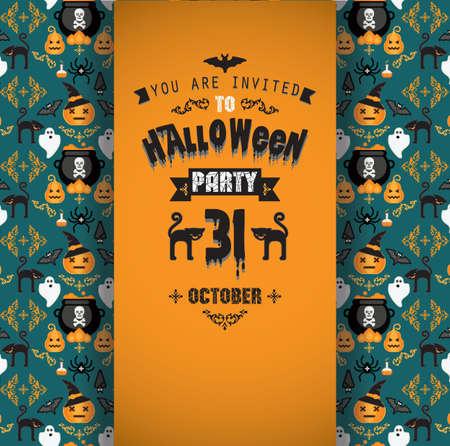 background design: Invitation to Halloween party.Vector illustration. Illustration