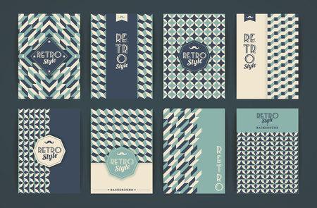 Set van Vintage Retro achtergronden. Patronen voor Placards, posters, flyers en Banner Designs. Stockfoto - 48016047