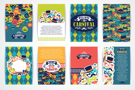 colorful background: Celebration festive background with carnival icons and objects. Vector Design Templates Collection for Banners, Flyers, Placards, Posters and other use.