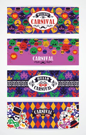 congratulations banner: Celebration festive background with carnival icons and objects. Vector Design Templates Collection for Banners, Flyers and other use.