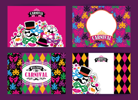 congratulations banner: Celebration festive background with carnival icons and objects. Vector Design Templates Collection for Banners, Flyers, Placards, Posters and other use.