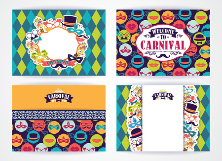 traditional background: Celebration festive background with carnival icons and objects. Vector Design Templates Collection for Banners, Flyers, Placards, Posters and other use.