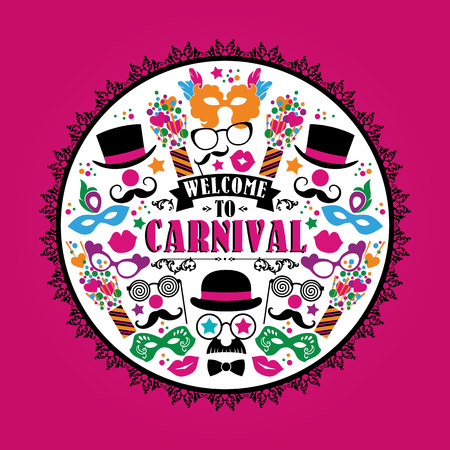 placards: Celebration festive illustration with carnival icons and objects. Vector Design for Banners, Flyers, Placards, Posters and other use.