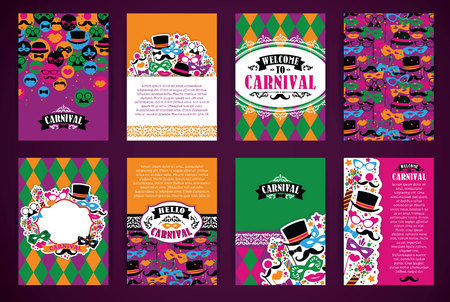 placards: Celebration festive background with carnival icons and objects. Vector Design Templates Collection for Banners, Flyers, Placards, Posters and other use.