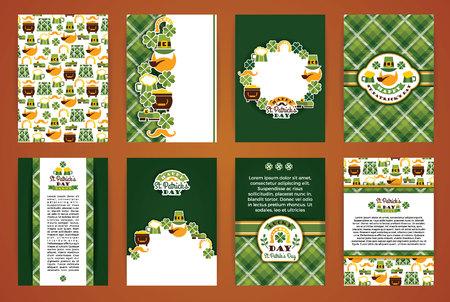 Saint Patricks Day backgrounds. Vector Design