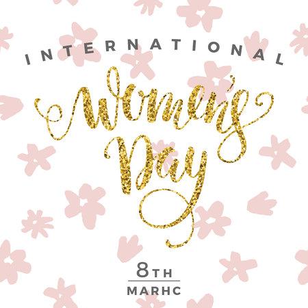 ingenious: International Womens Day. Vector illustration Illustration