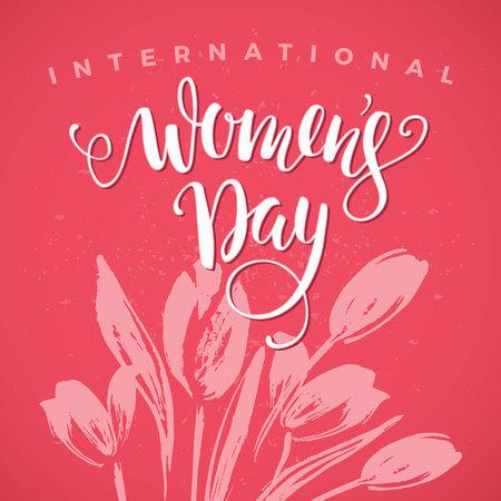 international people: International Womens Day. Vector illustration Illustration