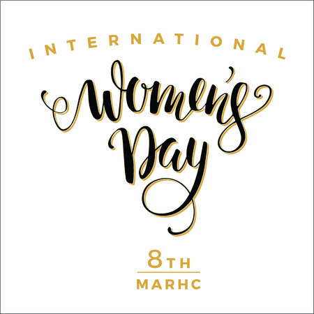 International Womens Day. Vector illustration Çizim