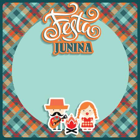 vacanze in America Latina, il partito giugno del Brasile. illustrazione piatto di simbolismo della vacanza