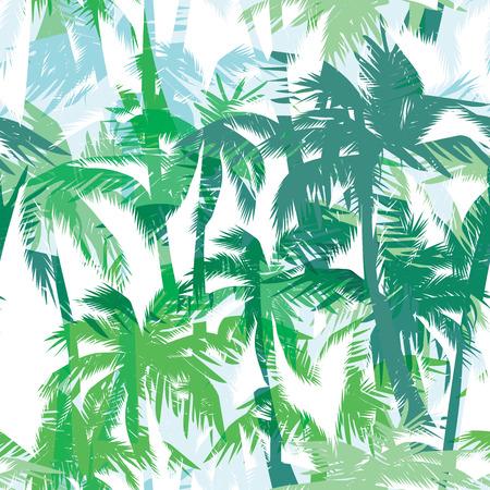 Tropische zomer druk met handpalm. naadloos patroon