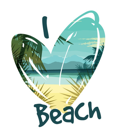 Tropical summer print with slogan for t-shirt graphic and other uses. Vector illustration