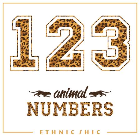 animal print: el número de animales de vectores para camisetas, carteles, tarjetas y otros usos. Sport chic. estilo de moda. Estampado de leopardo. Tendencia de moda.