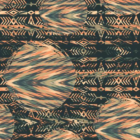 Tribal ethnischen nahtlose Muster mit geometrischen Elementen. Vektor-Hintergrund