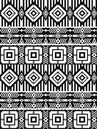 vintage patterns: Tribal ethnic seamless pattern with geometric elements. Vector background
