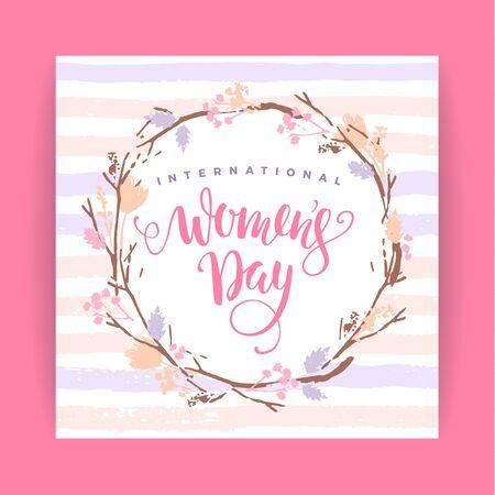ingenious: International Women s Day. Vector template
