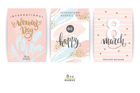 advertising design: International Women s Day. Templates.