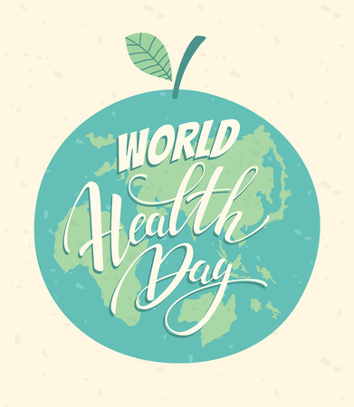 World health day vector illustration.