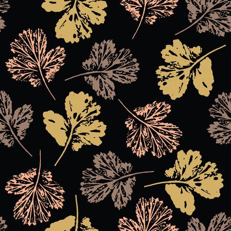 秋の葉のシームレスなパターンを抽象化します。