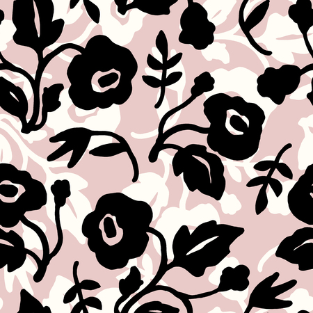 tile pattern: Abstract floral seamless pattern with trendy hand drawn textures. Modern abstract design for paper, cover, fabric, interior decor and other users