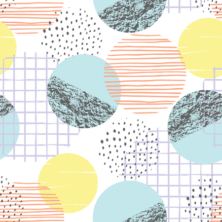 Abstract geometric seamless pattern with circles.