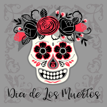Dia de los muertos. Day of The Dead. Vector design element for invitation, banner, card, poster, flyer, web and other users. Illustration