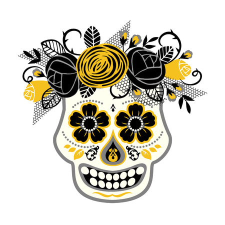 traditional culture: Dia de los muertos. Day of The Dead. Vector design element for invitation, banner, card, poster, flyer, web and other users. Illustration
