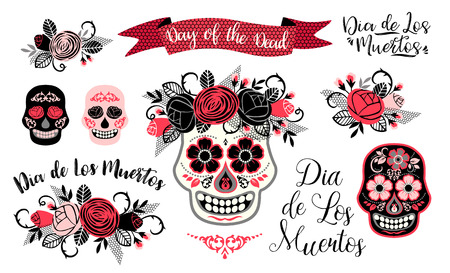 Dia de los muertos. Day of The Dead. Vector design element for invitation, banner, card, poster, flyer, web and other users. Stock Photo