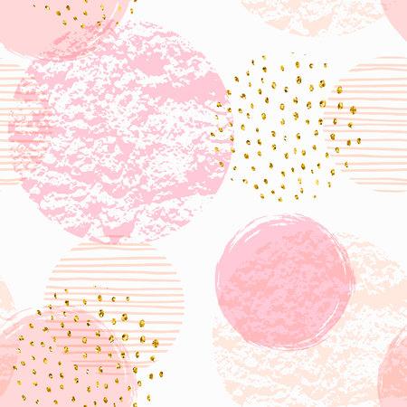 Abstrata sem costura padrão geométrico com círculos cor de rosa. Foto de archivo - 88545093