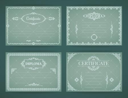 Design Template Collection voor diploma, certificaat, posters en ander gebruik.