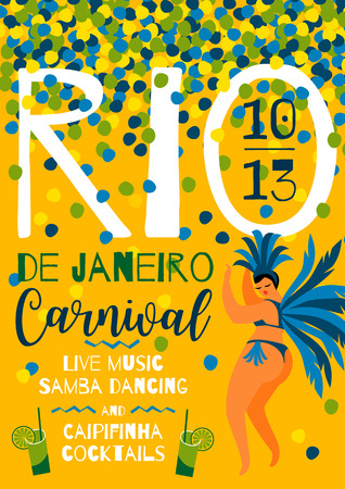 Brazil carnival template for carnival concept invitation, poster,  promotion.