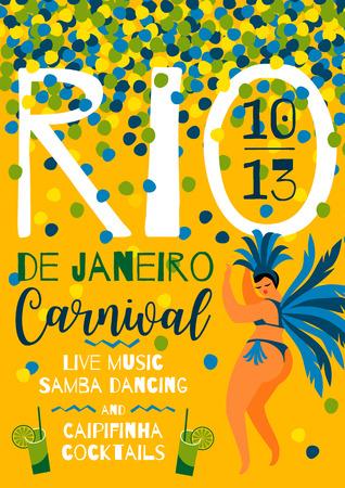 Brazil carnival template for carnival concept invitation, poster,  promotion.