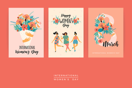 International Women's Day vector template.
