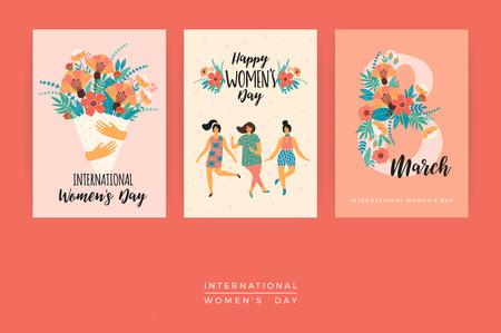 International Women's Day vector template. Stock Illustratie