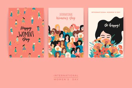 International Women's Day vector template.