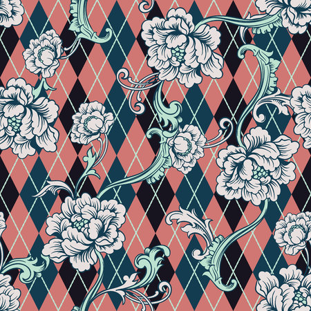 A Seamless background on Baroque pattern.